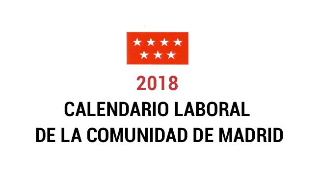 Calendario laboral de la comunidad de madrid forislex for Calendario eventos madrid
