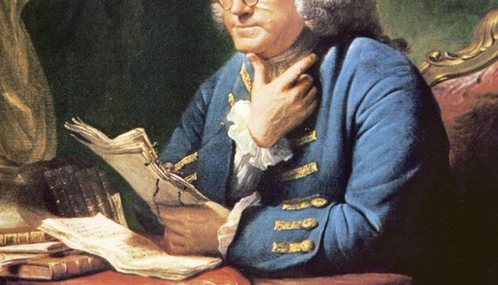 Benjamin Franklin habla sobre la ley