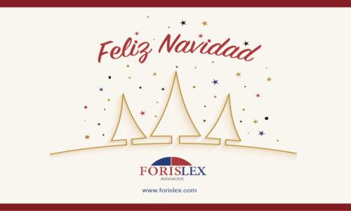 Forislex Abogados en Madrid Norte les desea Feliz Navidad
